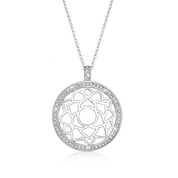 Elli Premium Kette mit Anhänger Chakra Swarovski® Kristalle 925 Sterling Silber, Chakra