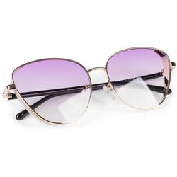styleBREAKER Sonnenbrille Cateye Sonnenbrille mit Glitzer Side Shield Getönt goldfarben