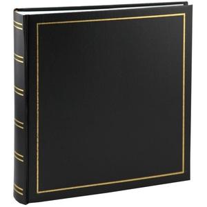 IDEAL TREND Album Tradition Fotoalbum in 30x30 cm 100 Seiten Jumbo Fotoalbum Buchalbum schwarz
