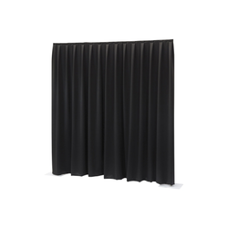 Wentex Pipes & Drapes Vorhang Dimout, 3x4m, 300g/m², schwarz