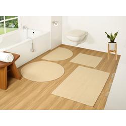Badematte Badesache COUCH♥, Höhe 4 mm, Badgarnitur, 100% Baumwolle, COUCH Lieblingsstücke beige 2-tlg. Stand-WC Set