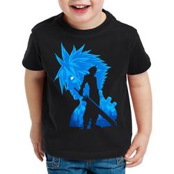 style3 Print-Shirt Kinder T-Shirt Soldier VII chocobo sephiroth 128