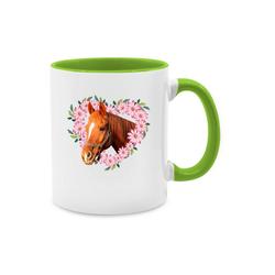 Shirtracer Tasse Pferd mit Herz - Pferde - Tasse zweifarbig - Tassen, tasse mit pferd
