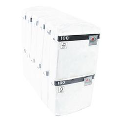 100 Servietten 1-lagig 33x33 cm weiß, FASANA, 33x33 cm