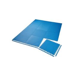 tectake Bodenschutzmatte Bodenschutzmatte 12-tlg. blau