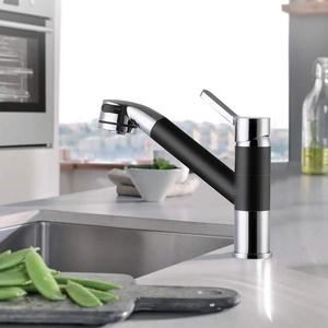 POP Küchenarmatur für Küchen Spüle Armatur Spüle Wasserhahn mit herausziehbaren Dual Spülen Spray Schwarz