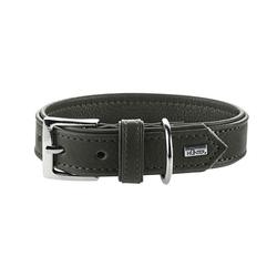 Hunter Hundehalsband Wallgau Leder, 60, taupe, Leder