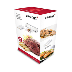 Steba Hand-Vakuumierer 932600 Vakuumier-Folienrollen für VK3 (VE2) 20 x 600 cm