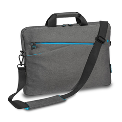 PEDEA Laptoptasche 17,3 Zoll (43,9cm) FASHION Notebook Umhängetasche mit Schultergurt, grau