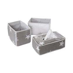 roba® Aufbewahrungsbox Aufbewahrungsboxen Little Star, grau, 3tlg.
