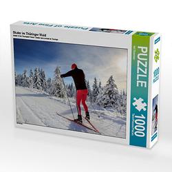 Skater im Thüringer Wald Lege-Größe 64 x 48 cm Foto-Puzzle Bild von Val Thoermer Puzzle