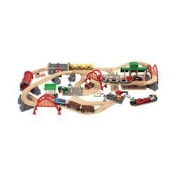 BRIO® Spielzeugeisenbahn-Set Straßen & Schienen Set Deluxe
