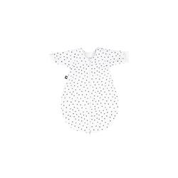 Julius Zoellner Jersey Schlafsack in weiß mit Muster Dots grau, Größe 62