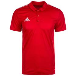 ADIDAS PERFORMANCE Herren Poloshirt 'Core 18' weiß / rot