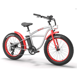 Fatbike E Bike BEACH 500W Rot