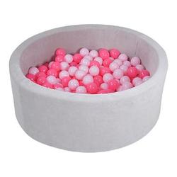 knorr® toys Bällebad soft - Grey inklusive 300 Bälle soft pink