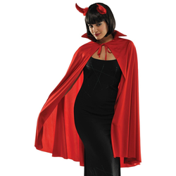 Halloween Adult Mid Length Red Cape Halloween Costume Wearable Accessory, Adult Unisex