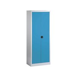 CP Aktenschrank abschließbar blau 80 cm x 198 cm x 42 cm