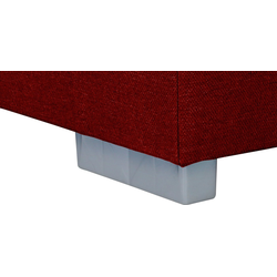 my home Boxbett Laurin, Härtegrad 3, mit Topper rot 192 cm x 20 cm x 54 cm