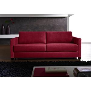 Places of Style Schlafsofa Norwalk, Dauerschlaffunktion, mit Unterfederung / Lattenrost und Matratze rot