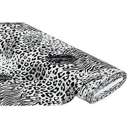 """Crêpe """"Leo & Zebra"""", schwarz/weiß"""