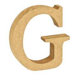 """VBS Buchstaben """"MDF"""" 8 cm x 1,5 cm bunt Buchstabe """"G"""""""