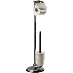 WC-Garnitur DARWIN, spirella, Garnitur Toilettenbürste und Toilettenpapierhalter, chrom