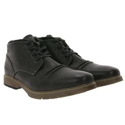 PETROLIO PETROLIO Winter-Stiefel leicht gefütterte Herren Boots aus Lederimitat Herbst-Stiefel Grau Winterstiefel