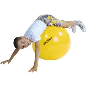 GYMNIC Gymnastikball Sitzball Yogaball Bürostuhl Büroball Fitnessball 45 cm GELB, gelb