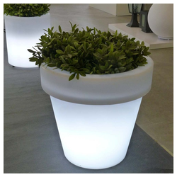 Licht-Trend LED Gartenleuchte Magnolia Mega Blumentopf mit Akku und LED-Beleuchtung