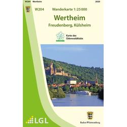 Wanderkarte 1:25 000 Wertheim