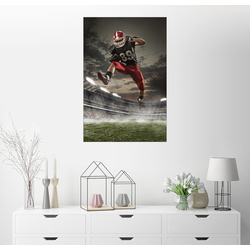 Posterlounge Wandbild, Footballspieler in Aktion 20 cm x 30 cm