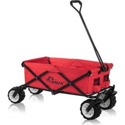 SAMAX Faltbarer Bollerwagen Offroad - Rot