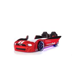 Möbel-Lux Kinderbett Must Rider, Kinderbett Autobett Must Rider 500 mit Türen rot