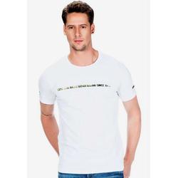 Cipo & Baxx T-Shirt Cb96 mit Logo Hologramm Aufdruck weiß M