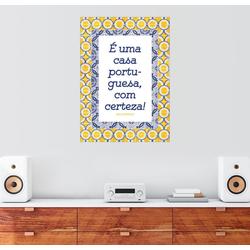 Posterlounge Wandbild, Ein portugiesisches Haus (portugiesisch) 70 cm x 90 cm