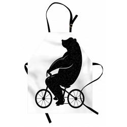 Abakuhaus Kochschürze Höhenverstellbar Klare Farben ohne verblassen, Lustiger Bär Lustige Tier auf einem Fahrrad