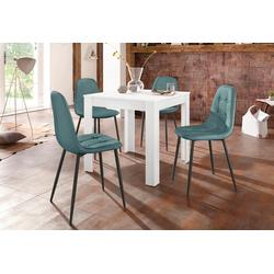 Essgruppe (Set, 5-tlg) blau Essgruppen Tische Sitzmöbel-Sets