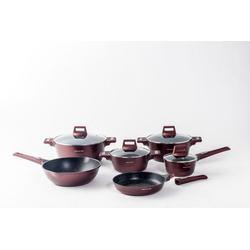 Mischler Cook Topf-Set Kochtopfset, Kochtopf, Bratpfanne, Aluminumguss, (10-tlg)