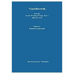 Visnudharmah / Precepts for the Worship of Visnu: Part 2 Visnudharmah - Buch