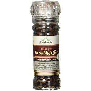 Herbaria Tellicherry Urwaldpfeffer, 1er Pack (1 x 50 g Glasmühle) - Bio