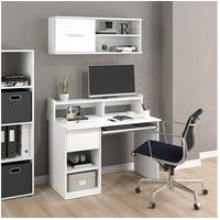 Vicco Schreibtisch Bürotisch Arbeitstisch Keno weiß Monitorständer