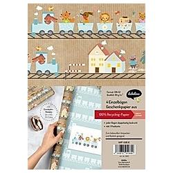 Geschenkpapier-Set für Kinder: Eisenbahn