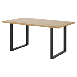 Stół Thadear 160x90 cm na prostokątnej podstawie