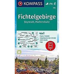 KOMPASS Wanderkarte Fichtelgebirge  Bayreuth  Marktredwitz - Buch