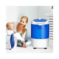 COSTWAY Kinder-Waschmaschine Campingwaschmaschine Mini Waschmaschine, mit Trockenschleuder, mit 2,5kg Kapazität, 170 Watt