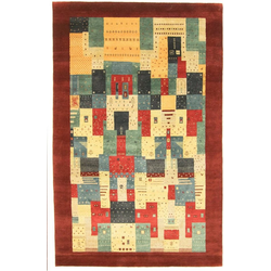 Wollteppich LORIBAFT AWARO, morgenland, rechteckig, Höhe 18 mm, Luxus, fein Handgeknüpft rot 250 cm x 350 cm x 18 mm