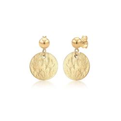 Ohrringe Ohrhänger Plättchen Vintage Antique 925 Silber Elli Gold