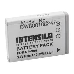 INTENSILO Li-Ion Akku 800mAh (3.7V) für Kamera Camcorder Video Praktica DCZ 8.3, DCZ 10.4, DCZ 10.3 wie NP-900, Li-80B.