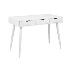 ebuy24 Schreibtisch Nula Schreibtisch mit 3 Schubladen in weiss.